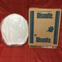 Load image into Gallery viewer, TS-57 NOS Olsonite Toilet Seat w LId Fawn Beige 90 Regular Bowl Foot hinge