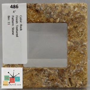 "MMT-486 Vintage 4"" Ceramic 1 pc Wall Tile Rock Stone Textured"