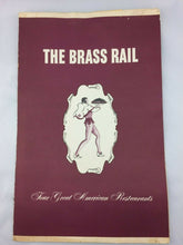 Load image into Gallery viewer, N-132 Vintage Restaurant Dining Menu The Brass Rail 1940's-1960s Brooklyn, NY