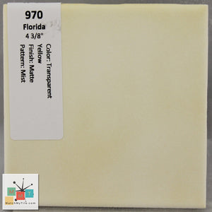"MMT-970B Vintage 4 3/8"" Ceramic 1 pc Wall Tile FT Yellow Essence Matte Bullnose"