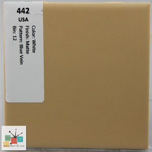 "MMT-442 Vintage 4 1/4"" Ceramic 1 pc Wall Tile Daltile Sahara Tan Matte"
