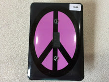 Load image into Gallery viewer, H-64 Peace Sign Single Wall Plate Light Switch Plate Cover Purple & Black