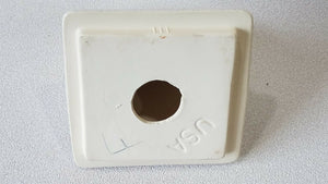 BA-1254 NOS Vintage Ceramic Bathroom Soap Dish White w/Black Specks Wall Mount