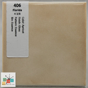 "MMT-406 Vintage 4 3/8"" Ceramic 1 pc Wall Tile FT Apricot Essence Glossy"