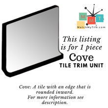 "Load image into Gallery viewer, MMT-806V Vintage 4 1/4"" Ceramic 1 pc Wall Tile White Gold Speckled Glossy Cove"