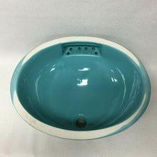Load image into Gallery viewer, BS-546 NOS Robin's Egg Blue Early 70's Ceramic Sink 19 1/4 x 16 Undermount
