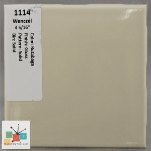 "MMT-1114 Vintage 4 5/16"" Ceramic 1 pc Wall Tile Wenczel Tan Glossy"