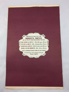 N-132 Vintage Restaurant Dining Menu The Brass Rail 1940's-1960s Brooklyn, NY