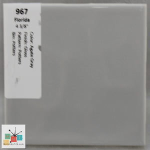 "MMT-967 Vintage 4 3/8"" Ceramic 1 pc Wall Tile FT Agate Gray Potters Glossy"