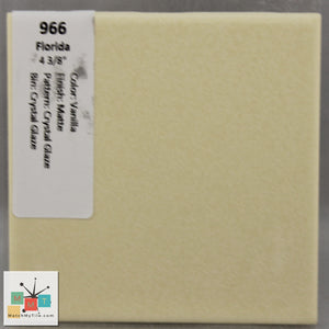 "MMT-966 Vintage 4 3/8"" Ceramic 1 pc Wall Tile FT Vanilla Crystal Glaze Matte"