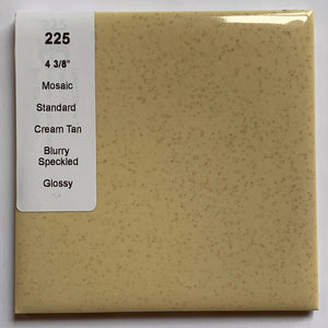 "MMT-225 Vintage 4 3/8"" Ceramic 1 pc Wall Tile Mosaic Tan Brown Speckled Glossy"