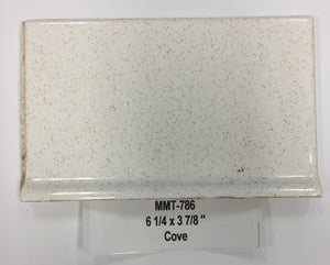 "MMT-786V Vintage 6 1/4x3 7/8"" Ceramic Tile Tilecrest White Gold Speckle Cove"