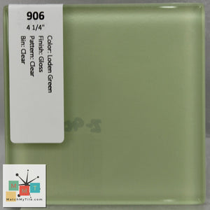 "MMT-906 Vintage 4 1/4"" Ceramic 1 pc Wall Tile Loden Green Clear Glossy"