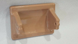 BA-1204 Vintage Ceramic Bathroom Mocha Brown Toilet Paper Holder 6.5 x 4.75""