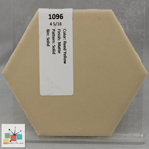 "MMT-1096V Vintage 2x6"" Ceramic 1 pc Wall Tile Reed Yellow Tan Matte Cove"