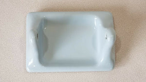BA-1078 NOS Vintage Ceramic Bathroom Light Blue Toilet Paper Holder 7 x 4 3/4""
