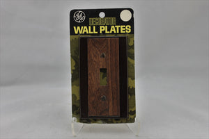 "LP-1733 General Electric 2 3/4"" Dark Brown Wood Plastic Decorative Switch Electrical Cover"