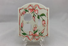 "Load image into Gallery viewer, LP-1779AI General 5"" Cream & Pink Floral Metal Vintage Switch Electrical Cover"