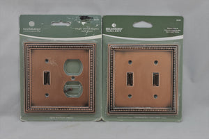 "LP-1798 betsyfieldsdesign 5"" Copper Rope Trim Metal Vintage Lot: Switch & Oulet Electrical Cover"