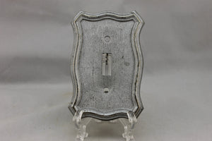 "LP-1855 American 3 1/2"" Silver Wooden Cast Brass 1968 Switch Electrical Cover"