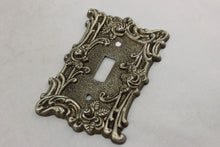 "Load image into Gallery viewer, LP-1860 American 3 1/2"" Gray Brass Ornate Floral Brass 1967 Switch Electrical Cover"