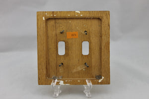"LP-1874 5 3/8"" Cherry Finish Wood Wood Vintage Dual Switch Electrical Cover"