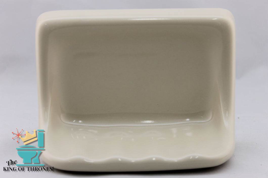SD-1501 Vintage Ceramic Beige Soap Dish Gloss