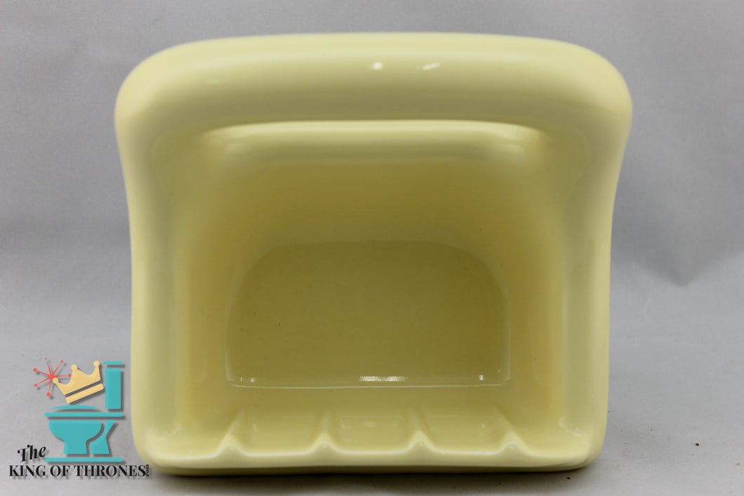SD-1507 Vintage Ceramic Light Yellow Soap Dish Gloss