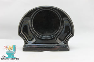SD-1513AI Vintage Ceramic Black Soap Dish Shell Gloss