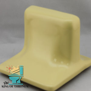 SD-1532 Vintage Ceramic Golden Yellow Soap Dish Gloss