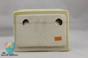 SD-1618 Vintage Ceramic Straw Yellow Soap Dish Handle Gloss