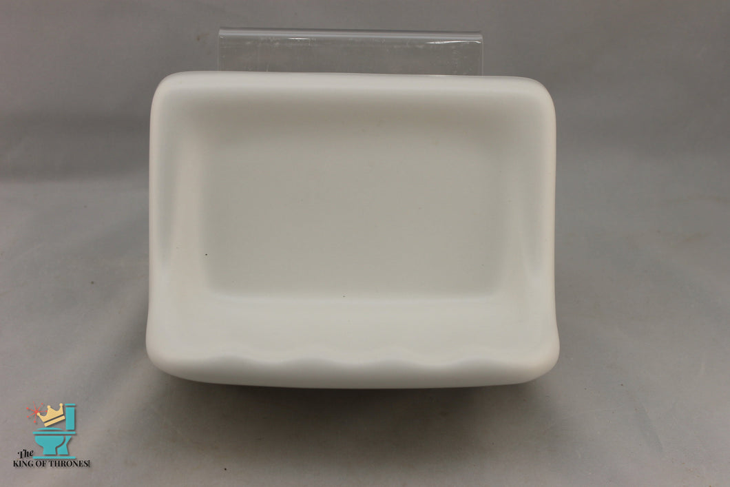 SD-1661AI Vintage Ceramic White Soap Dish Matte