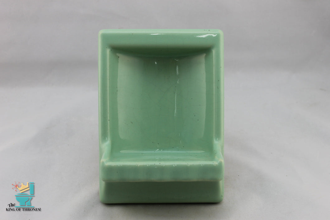SD-1704AI Vintage Ceramic Fair Green Soap Dish Gloss