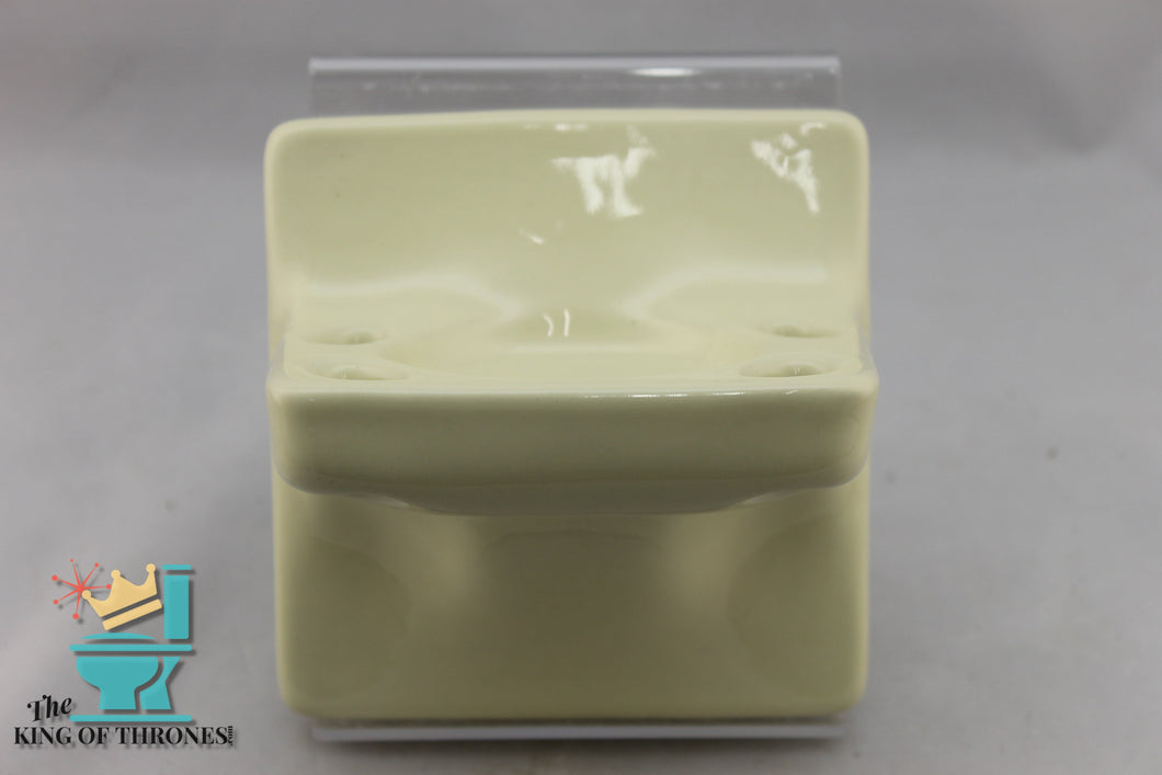 TH-1521 Vintage Ceramic Pastel Yellow Toothbrush Holder Gloss