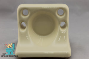 TH-1527 Vintage Ceramic Pale Yellow Toothbrush Holder Gloss