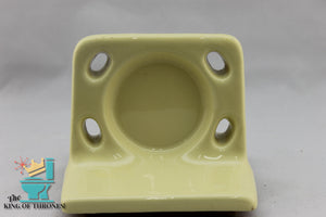 TH-1528 Vintage Ceramic Chardonnay Yellow Toothbrush Holder Gloss