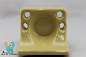 TH-1529 Vintage Ceramic Rattan Yellow Toothbrush Holder Gloss
