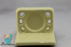 TH-1530 Vintage Ceramic Custard Yellow Toothbrush Holder Gloss