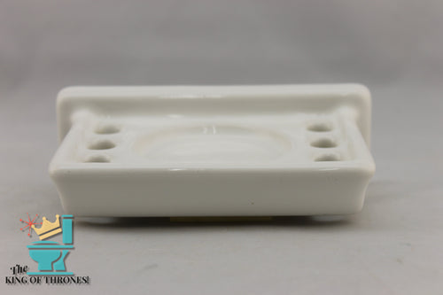 TH-1562 Vintage Ceramic White Toothbrush Holder 6 Brush Gloss