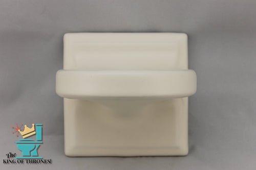 TH-1564AI Vintage Ceramic White Toothbrush Holder 6 Brush Matte