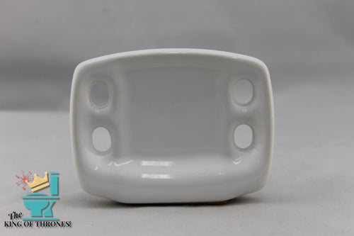 TH-1602 Vintage Ceramic White Toothbrush Holder 4 Brush Gloss
