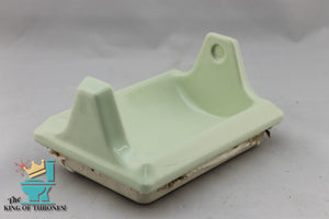 TP-1509 Vintage Ceramic Green Cream Toilet Paper Holder Gloss
