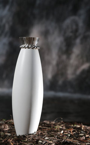 Tall White Porcelain Vase