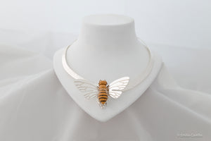 Yellow Jasper Bumblebee Necklace