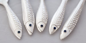 Sterling Silver Fish Set