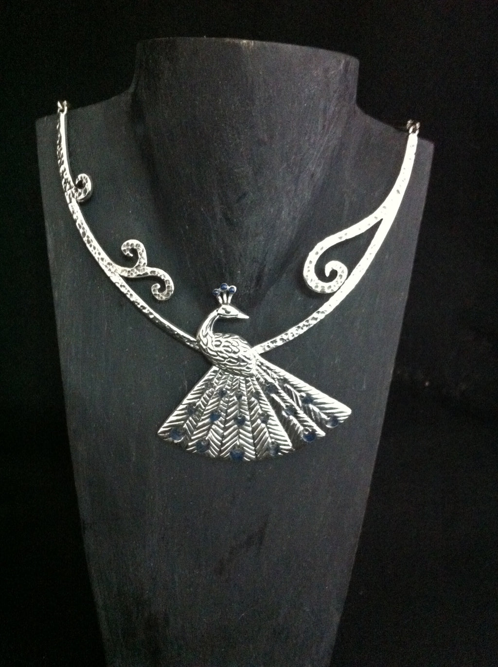 LARGE PEACOCK NECKLACE