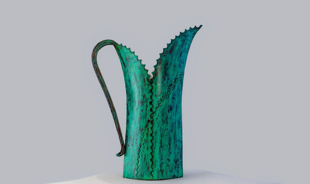 Verdigris Agave Water Pitcher