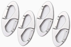 Marine City Aluminum Alloy 8-Shape Carabiner/Buckle Snap Clip Hook for Outdoor (4pcs)