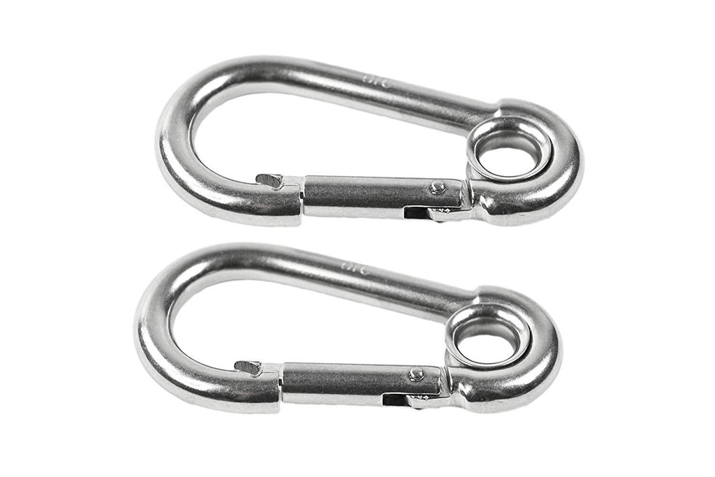 """Stainless Steel Snap Hook 2-3//8/"""" Carabiner for Camping Hiking Climbing Boat"""