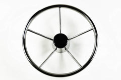 "Marine City Stainless-Steel 25 Degree 13-1/2"" or 15-1/2"" Dia. 5 Spokes Steering Wheel for Boat, Yacht (Dia.:15-1/2"")"